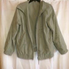 Giacca Sport Womens Green Reversible Floral Bomber Jacket Size M