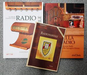 LOTTO 3 libri Mosè Edizioni Antique RADIO STILE, LA BELLA RADIO, RADIOMARELLI