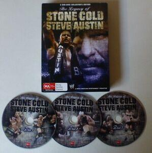 THE LEGACY OF STONE COLD STEVE AUSTIN dvd set REGION 4 wrestling WWE sport WWF
