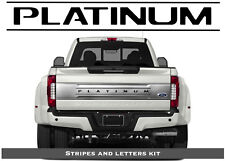 Black Letters & Lines for Ford F-250 350 450 PLATINUM 2017-2019 Tailgate Inserts
