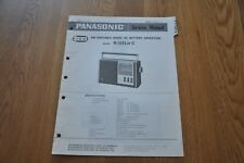Panasonic R-1551 C  Portable Radio Genuine Service Manual. RD-757