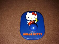 New listing Vintage Hello Kitty Wooden Blue Wall Hook Clothing Robe Hat Sanrio 1976 Japan
