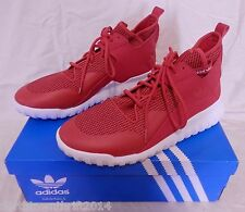 Men's Red High Tops ADIDAS Originals Tubular Tennis  Atheletic  Sneakers Shoes X