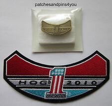 Harley Davidson HOG 2010 Patch & Pin Set **NEW** FREE U.K. POSTAGE!