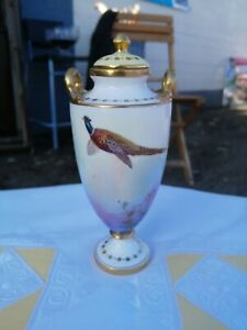 Early Signed Minton Lidded Urn / Vase