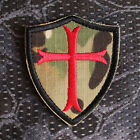 Morale Patch Aufnäher Camouflage Kreuz Tarnfarben Kreuzzug Templer Deus Vult EDC