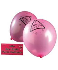 Bride to be Pink and Black Warning Hen Night Warning 12 Balloons for your Party