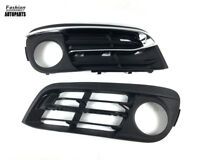 4Pcs Bumper Fog Light Cover Grille Bezels Chrome Trim For BMW 5 Series F10 F11