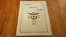 Vintage Champion Shooters Supply Catalog 1991 New Albany Ohio Firearms Book