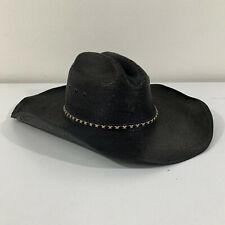 Resistol Cowboy Hat Men's Size 57 7-1/8 Jason Aldean Black Genuine Mexican Palm