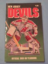 NHL Vintage 1989-90 NJ New Jersey Devils Team Yearbook NM-MT Fetisov Rookie Year