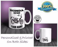 Honda CBF1000 Motorbike Personalised Ceramic Mug Gift (MB037)