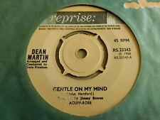 "Dean Martin Gentle On My Mind 7"" Single Reprise 1968 Ex Condition.."