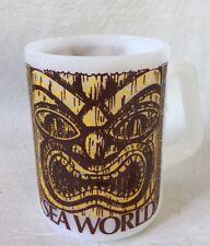 Tiki Sea World Milk Glass coffee mug Federal Glass Company Made in USA