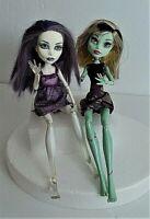 Lot of 2 Monster High 2008 Frankie Stein & 2008 Spectra Vondergeist- Dead Tired