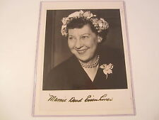 Mamie Eisenhower First Lady Signed Autographed 8x10 B&W Photo PAAS COA & SGC COA