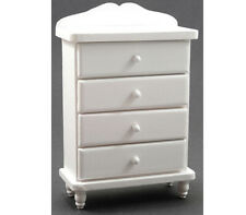 Dollhouse Miniature Chest of Drawers in White Wood by Handley House