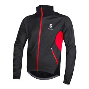 Men's Bicycle long sleeve jacket Windproof Waterproof Cycling Thermal Jersey