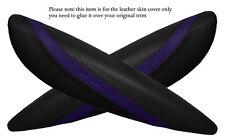 Black&purple 2x PANTHERS SPORTELLO BRACCIOLO PELLE COPERTURA Adatta per BMW Mini Cooper R56 07-14