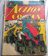 ACTION COMICS #41 1941 Superman Book Vintage Collectible DC Superhero Golden Age