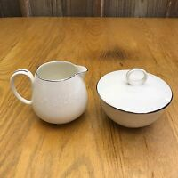 Noritake Montblanc Creamer and Sugar Bowl With Lid 7527 Japan