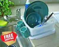 Mini Dish Drainer Tray Rack Holder Storage RV Sink Part Kitchen Accessory