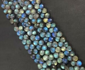 Natural AAA quality Labradorite multi fire faceted heart shape briolette size 6-9mm sold per 8-inch strand GW475