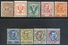 Regno d'Italia 1901 Floreale n. 68/73 + 75 + 77 + 77 * (l187)