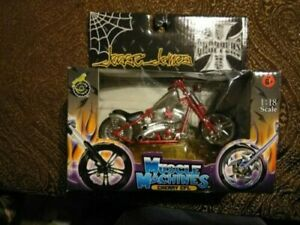 Muscle Machines West Coast Choppers Cherry CFL Jesse James 1:18 New