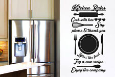 Kitchen Rules Cook With Love Try A New Recipe Vinilo Pegatinas De Pared Adhesivo