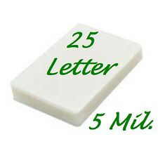 Laminating Laminator Pouches Sheets 25- Letter 9 x 11-1/2 5 Mil