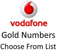 NEW Vodafone UK GOLD VIP BUSINESS EASY MOBILE PHONE NUMBER SIM Card Simcard voda