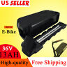 36V 13Ah Black Replacement Lithium Li-ion Battery for Electric Bicycle E-Bike