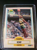 1990 - 1991 Fleer Shawn Kemp Seattle Supersonics #178 Basketball Card