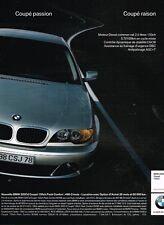 Publicité advertising 2004 BMW 320 Cd Coupé 150 ch
