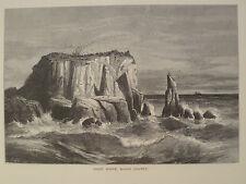 Coast Scene Marin County California Antique Engraving 1872