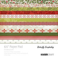 Christmas Carol Collection 6.5 inch Paper Pad Scrapbooking Kit Kaisercraft NEW