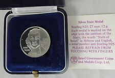 Israel 1988 Remember Holocaust Anne Frank State Medal 27mm 12gr Silver +box +COA
