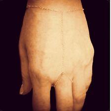 Simple, Everyday 14K Gold-filled Chain Hand-Chain/Finger-Bracelet/Slave-Bracelet