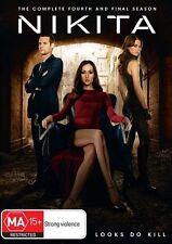 Nikita : Season 4 (DVD, 2014, 2-Disc Set) Like New Unsealed Region 4 (Box D234)