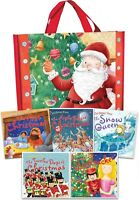 Christmas Picture Flat 5 Books Collection Set in Bag Children Pack (Age 3 to 8)