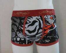 Ed Hardy Fierce Tiger Collage Premium Cotton Stretch Trunks Size L New