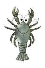 Zeckos Rustic Metal Lobster Coastal Decor Wall Sculpture Large