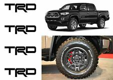 (4) Black TRD Vinyl Decals For TRD SEMA Wheel Center Caps New Free Shipping USA