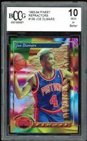 1993-94 Finest Refractors #199 Joe Dumars Card BGS BCCG 10 Mint+