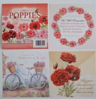 """Hunkydory 25 mixed Square Book of Toppers """"Poppies"""" see pictures (Reds)"""