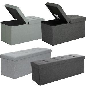 Faltbar Sitzhocker Ottomane mit Stauraum Sitzbank Sitzwürfel Aufbewahrungsbox