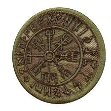 vegvisir compass runic viking icelandic norse multicam tag hook-and-loop patch
