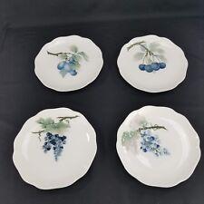Rosenthal Appetizer Plates 3D Fruit Designs Set Of 4  CHERRIES Scallop Edged