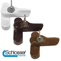 Key Locking Sash Window Jammer - UPVC Timber Composite Door / Window Restrictor